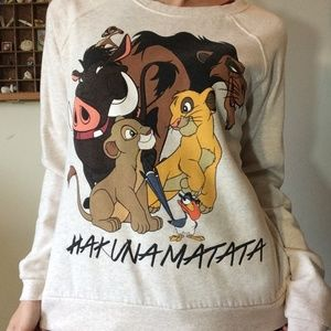 Disney Tops - Disney Hakuna Matata Sweatshirt Lion King Simba
